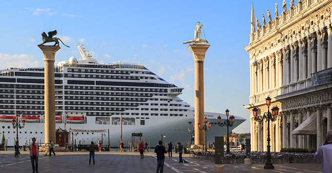 Cruise Ship in St. Mark's Square, Venice