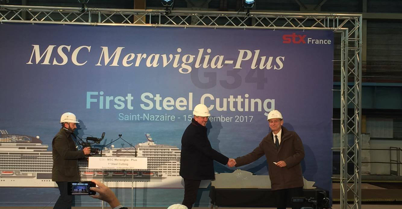 Steel cutting for MSC Grandiosa