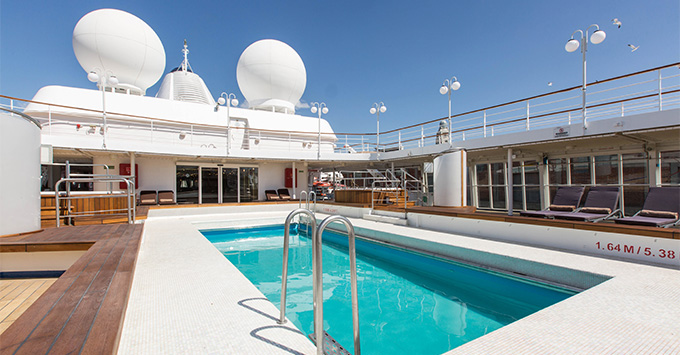 Silver Cloud Pool Deck