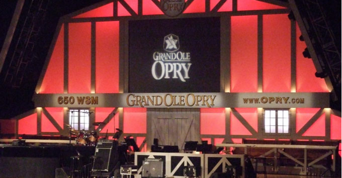 The stage of the Grand Ole Opry in Nashville, Tennessee