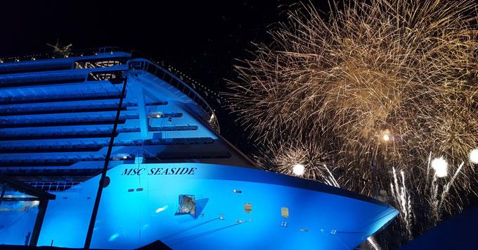 MSC Seaside fireworks