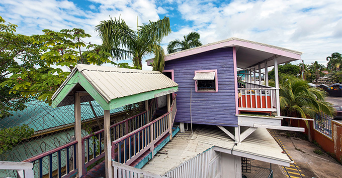 Colorful houses of Belize City