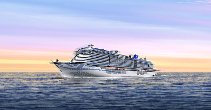 Artist rendering of the new P&O ship slated for 2022