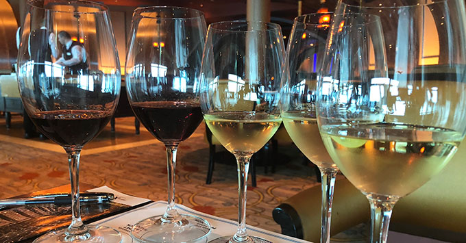 Wine tasting on Celebrity Silhouette