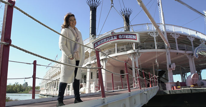 Jane McDonald taking a Mississippi River cruise on American Queen