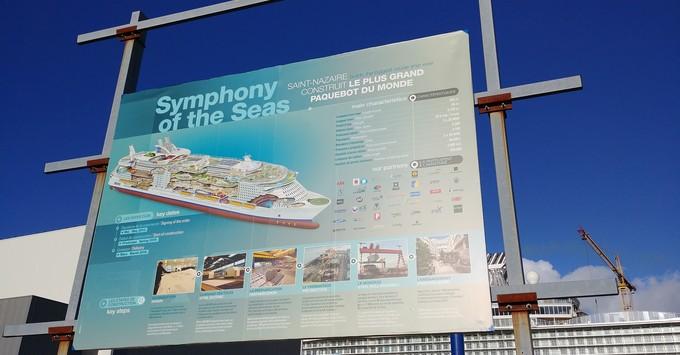 Visiting Symphony of the Seas at the shipyard