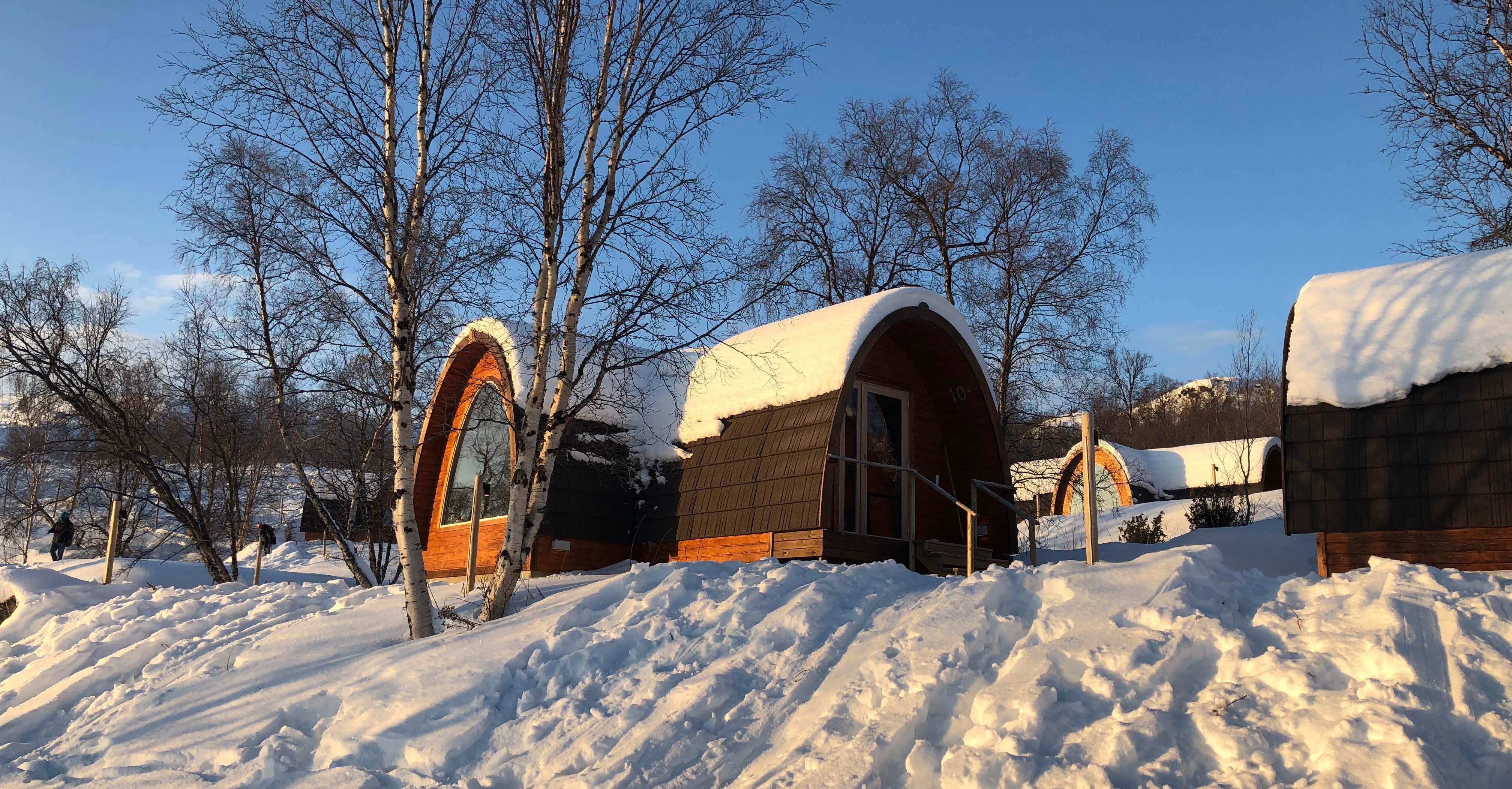 Hurtigruten snow hotel cabins