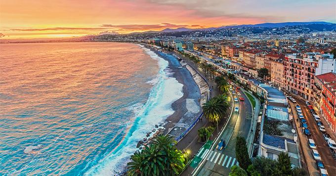 Nice coastline at sunset