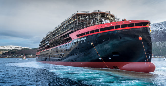 Hurtigruten Roald Amundsen float out