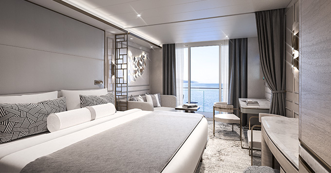 Rendering of the Deluxe Suite on Crystal Endeavor
