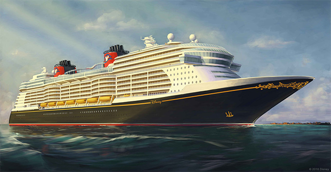 Rendering of new Disney Cruise Line ship