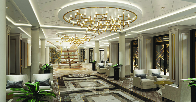 Rendering of The Atrium on Seven Seas Splendor