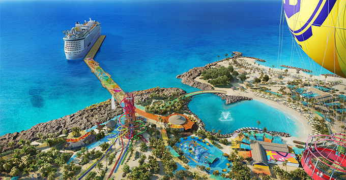 Rendering of the helium balloon ride at the new CocoCay