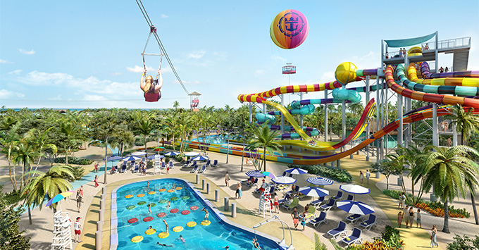 Rendering of the new waterpark at CocoCay