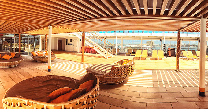 The sun deck on Grand Classica