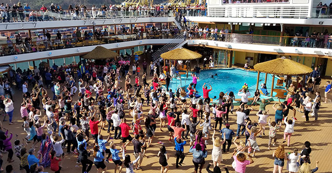Deck party on Carnival Horizon