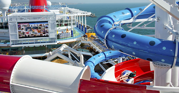 Waterslide on Carnival Horizon