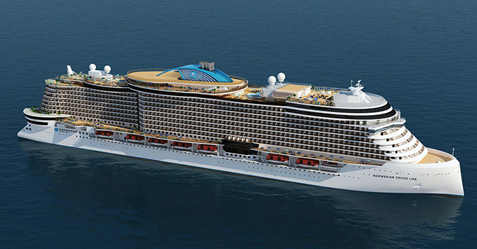 Artist rendering of Norwegian Cruise Line's new Leonardo Class Ships
