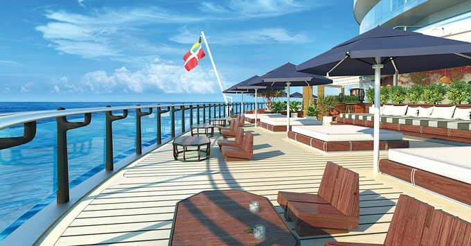 Artist rendering of The Dock on Virgin Voyages (Photo: Virgin Voyages/Roman and William)