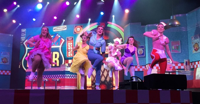 'Bud's Diner' is a 50's themed musical performed on Marella Explorer
