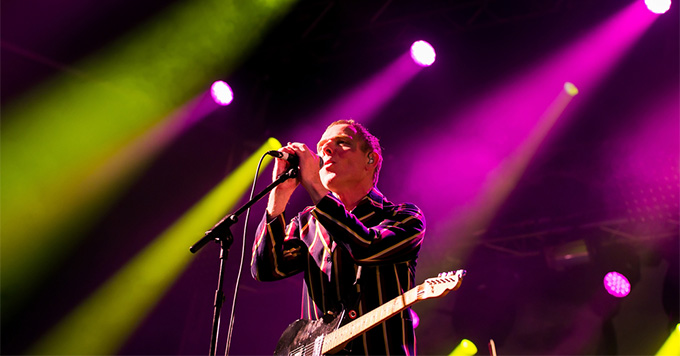 Stuart Murdoch, singer of Belle and Sebastian, performs at Primavera Sound 2015 Festival on May 29, 2015 in Barcelona, Spain