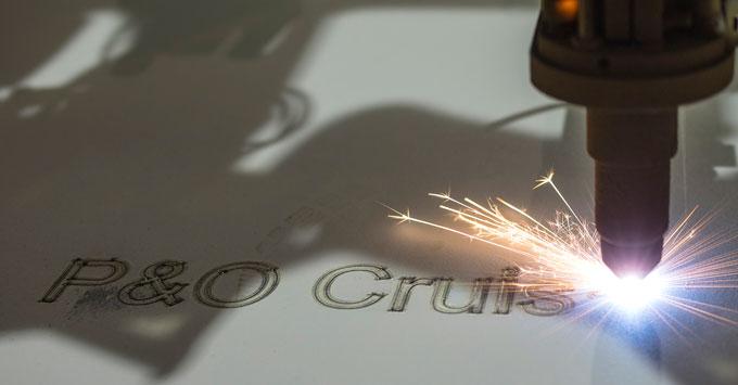P&O Cruises Steel Cutting