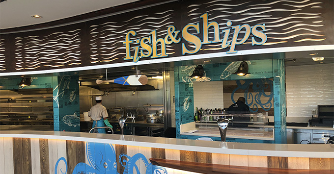 Fish & Ships on Independence of the Seas