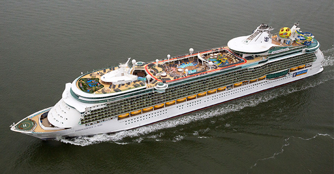 Independence of the Seas exterior aerial