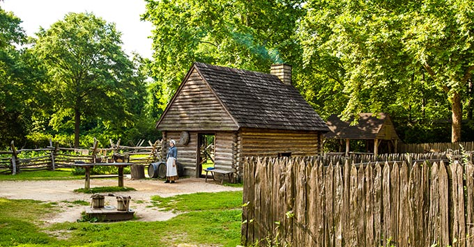 Historic Yorktown Village, part of Colonial National Historic Park, Virginia