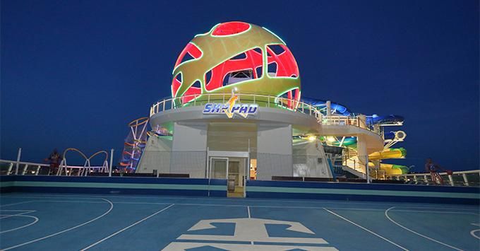 SkyPad on Mariner of the Seas at night