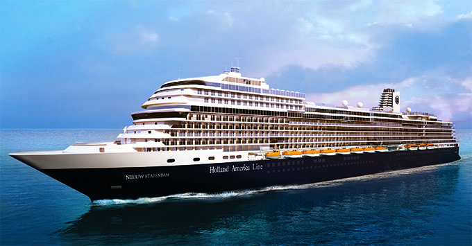 Holland America Line has named Oprah as the godmother of Nieuw Statendam