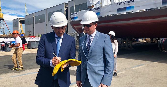 Seven Seas Splendor at the Fincantieri Shipyard