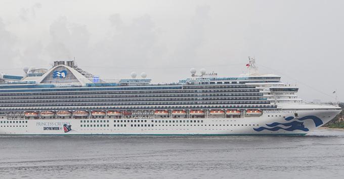 Exterior shot of Caribbean Princess