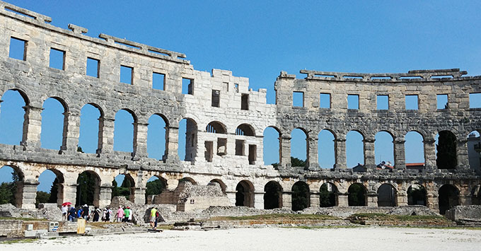 Ancient Roman ruins in Pula