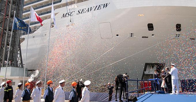 MSC Seaview's delivery ceremony