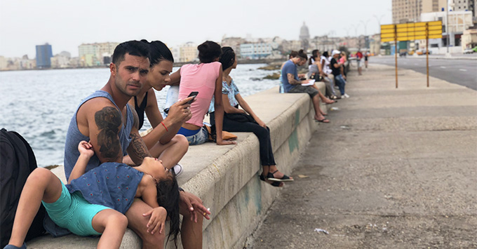 The Malecon in Havana, Cuba