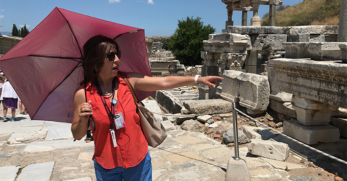 Celestyal's included tour of Ephesus