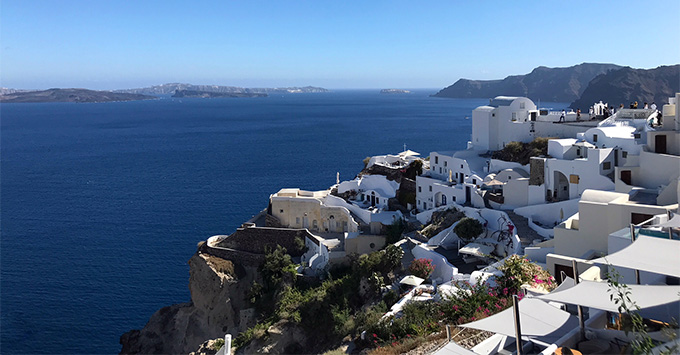 Santorini, a stop on Celestyal Crystal's seven-night 'Idyllic Aegean' itinerary