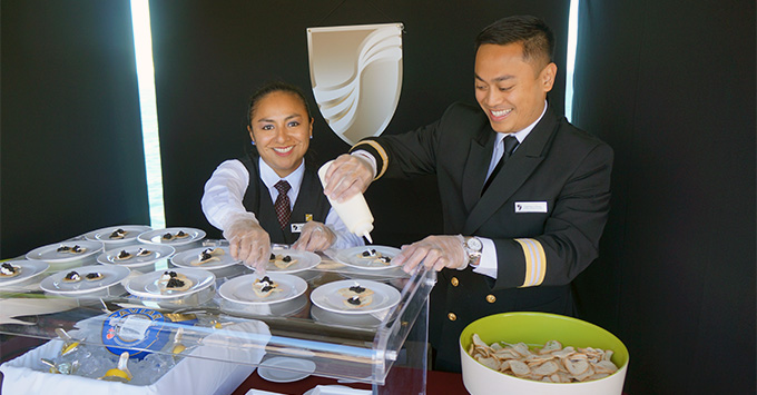 Seabourn Ovation staff members