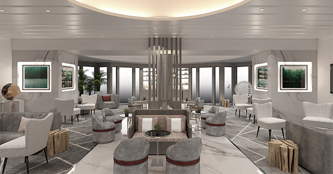 Rendering of The Retreat Lounge