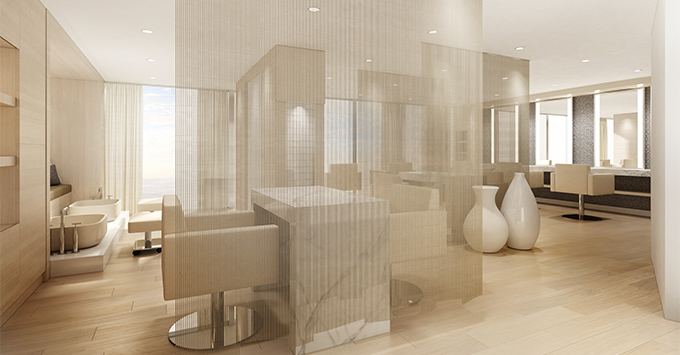 Rendering of the spa salon on Celebrity Cruises