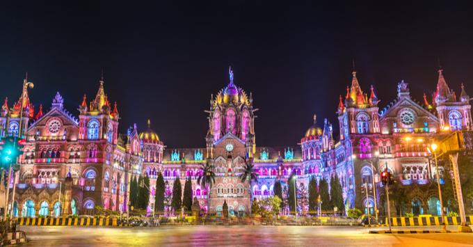 Chhatrapati Shivaji Maharaj Terminus, a UNESCO world heritage site in Mumbai - Maharashtra, India