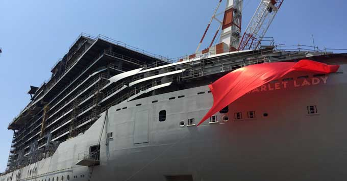 Virgin Voyages Floats Out First Cruise Ship, Reveals Name