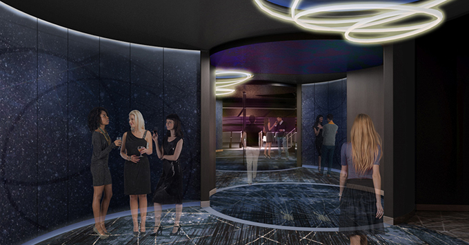 Rendering of theater entrance