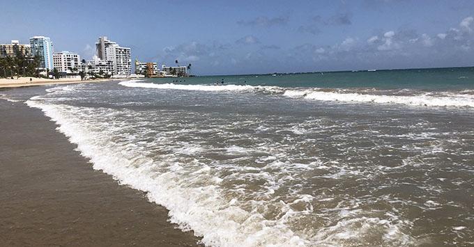 Isla Verde Beach near the Ritz-Carlton