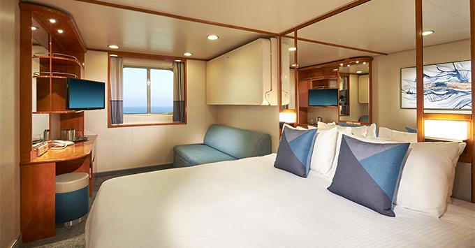 The refurbished Ocean-View Cabin on Norwegian Sun