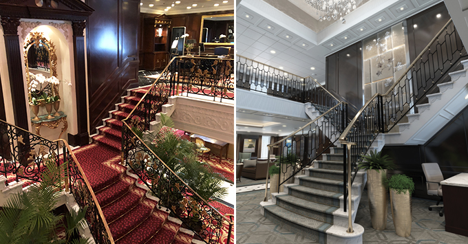 Before and After: The Grand Staircase on Insignia