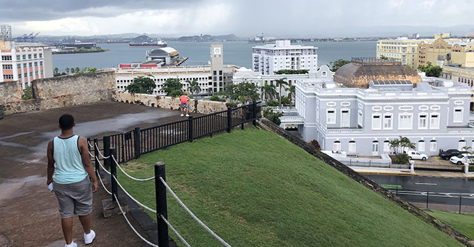 A view of the Port of San Juan from Fort San Cristobal