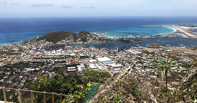 Aerial view of St. Maarten/Martin