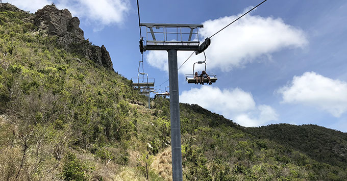 Chairlift excursion on St. Maarten/Martin